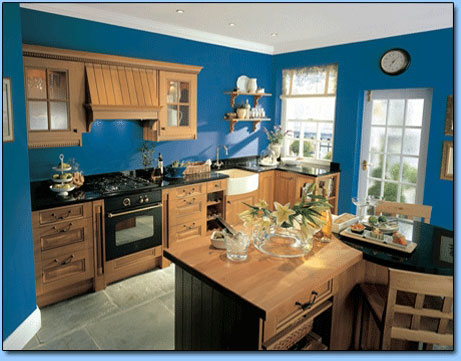 Granite and timber kitchen worktops