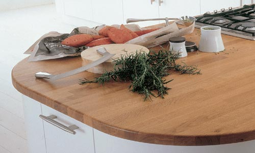 Oiled timber kitchen worktops