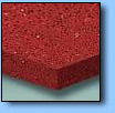 Red quartz kitchen worktop