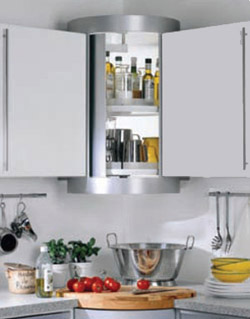 Kitchen Wall unit carousel with lights
