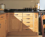 Kitchen in light oak