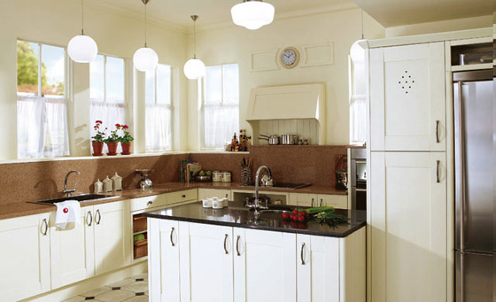 Kitchen as Malbec in Ivory