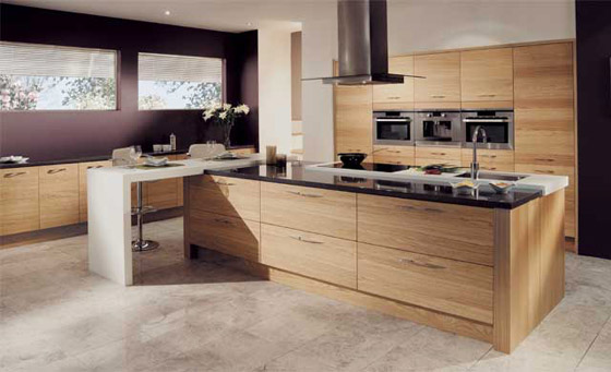 Kitchen as Tavola Oak Light Oak