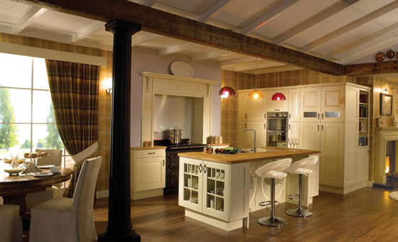 Conventional Kitchens with Sprung Hinges, the most popular style
