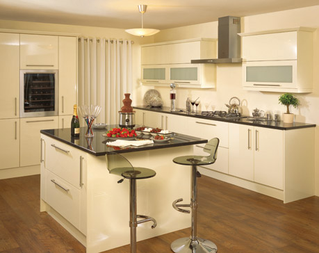 Etonnant Vanilla High Gloss Kitchen
