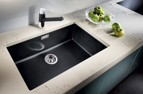 Blanco Kitchen Sinks Uk Dream kitchens selection of inset under mount silgranite kitchen blanco subline 700u silgranit under mount workwithnaturefo