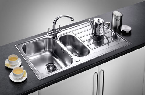 dream kitchens selection of inset stainless steel kitchen sinks. Black Bedroom Furniture Sets. Home Design Ideas