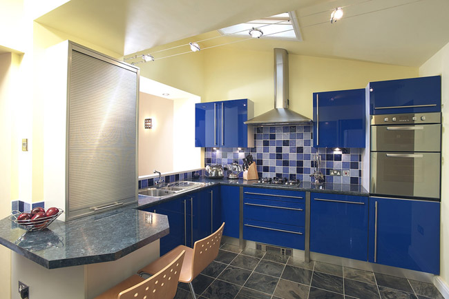 Blue Parapan Kitchen Display