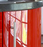 Red Gloss Parapan curved door