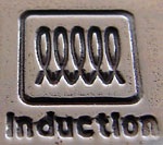 Induction pan symbol found under suitable saucepans